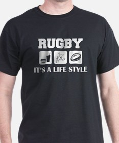 Food Sex Rugby T-Shirt