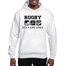 Food Sex Rugby Hoodie
