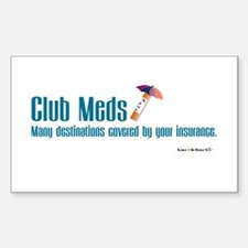 Club Meds Rectangle Decal