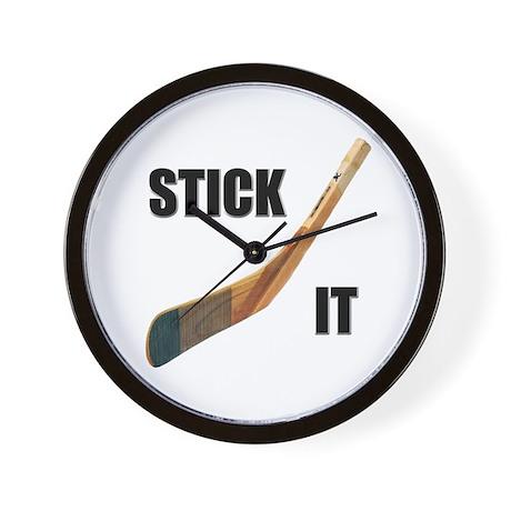 Stick It Hockey Wall Clock