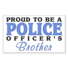Officer's Brother Rectangle Decal