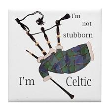 Stubborn Celt Tile Coaster