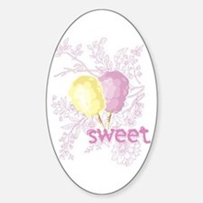 Cotton Candy Sweet Oval Decal