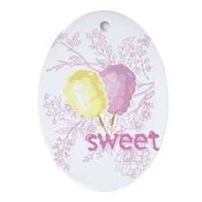 Cotton Candy Sweet Oval Ornament