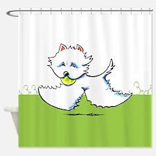 Westie Playtime Shower Curtain
