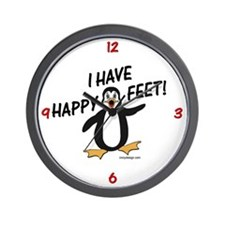 Happy Feet Penguin Wall Clock