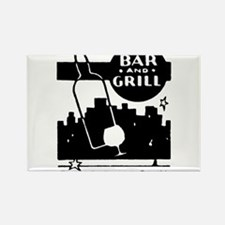 Retro Bar & Grill Rectangle Magnet