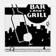 Retro Bar & Grill Tile Coaster