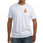 Orange Awareness Ribbon Fitted T-Shirt