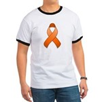Orange Awareness Ribbon Ringer T