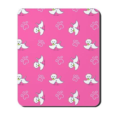 Westie Playtime Pink Mousepad