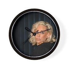 Blond Woman Wall Clock