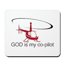 God is my co-pilot R44 Mousepad