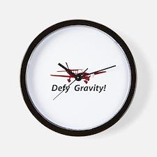 Defy Gravity Fixed Wall Clock