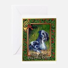 Cesky Terrier Dog Christmas Greeting Card