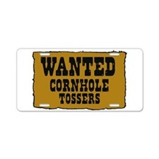 Cornhole wanted poster Aluminum License Plate