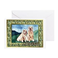 Clumber Spaniel Dog Christmas Greeting Card