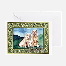Clumber Spaniel Dog Christmas Greeting Cards (Pk o