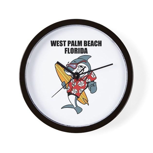 West Palm Beach Wall Clock By Bestbeach