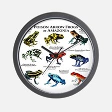 Poison Dart Frogs of Amazonia Wall Clock