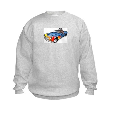 Dog Driving Sports Car Sweatshirt