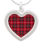 Tartan - Stuart of Bute Silver Heart Necklace