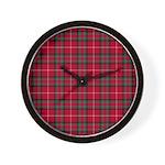 Tartan - Stuart of Bute Wall Clock