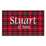 Tartan - Stuart of Bute Sticker (Rectangle 10 pk)