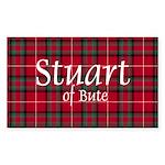 Tartan - Stuart of Bute Sticker (Rectangle 50 pk)