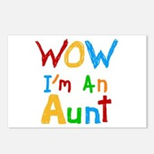 WOW I'm an Aunt Postcards (Package of 8)