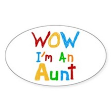 WOW I'm an Aunt Stickers