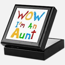 WOW I'm an Aunt Keepsake Box