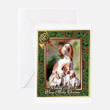 Bracco Italiano Dog Christmas Greeting Card