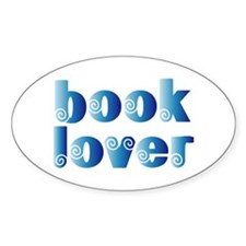 Cool Blue Reader Oval Decal