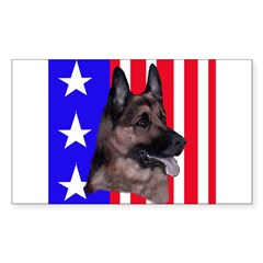 German Shepherd Rectangle Decal