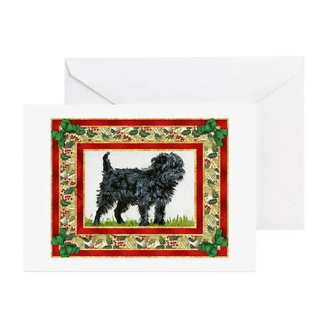 Affenpinscher Dog Christmas Greeting Cards (Pk of