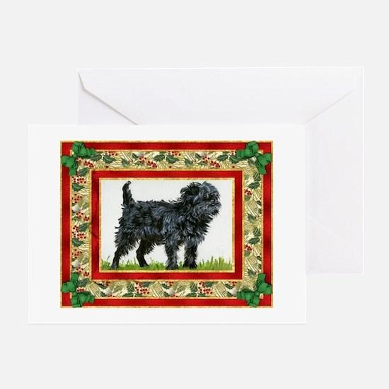 Affenpinscher Dog Christmas Greeting Card