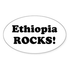 Ethiopia Rocks! Oval Decal