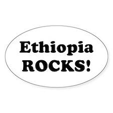 Ethiopia Rocks! Oval Decal