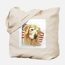 Moment of Silence Golden Rtvr Tote Bag