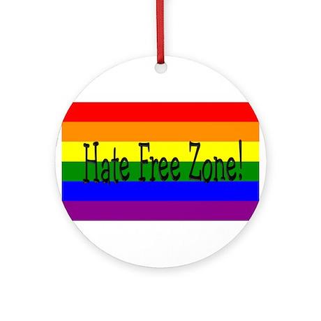 Hate Free Zone! Ornament (Round)