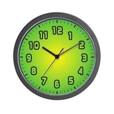 Green Burst (Large Numbers) Wall Clock