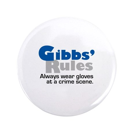 "Gibbs Rules Wear Gloves 3.5"" Button (100 pack)"