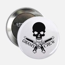 """Pirate Groom's Crew 2.25"""" Button"""