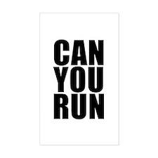 CAN YOU RUN Rectangle Decal