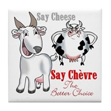 Goat- Say Cheese Tile Coaster