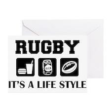 Food Beer Rugby Greeting Cards (Pk of 10)