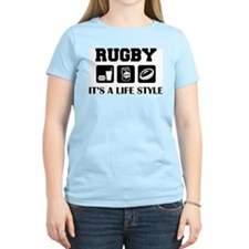 Food Beer Rugby Women's Pink T-Shirt