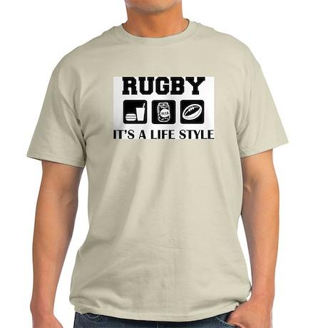 Food Beer Rugby Ash Grey T-Shirt