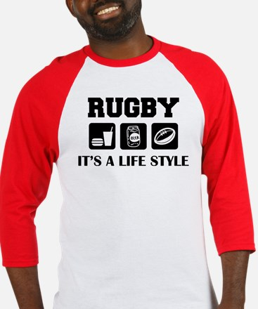 Food Beer Rugby Baseball Jersey